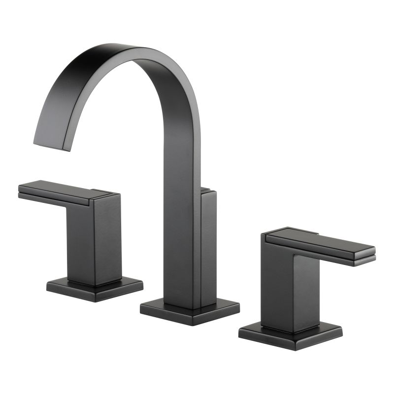 Brizo 65380LF-BNLHP Brilliance Brushed Nickel Siderna Widespread Bathroom Faucet with Pop-Up Drain Assembly - Includes Lifetime Warranty - Less Handles ...