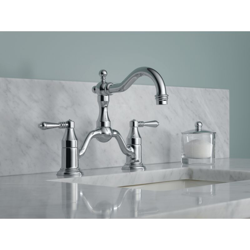 Merveilleux Brizo 65536LF BN Brilliance Brushed Nickel Tresa Widespread Bridge Bathroom  Faucet   Includes Lifetime Warranty   Less Drain Assembly   Faucet.com