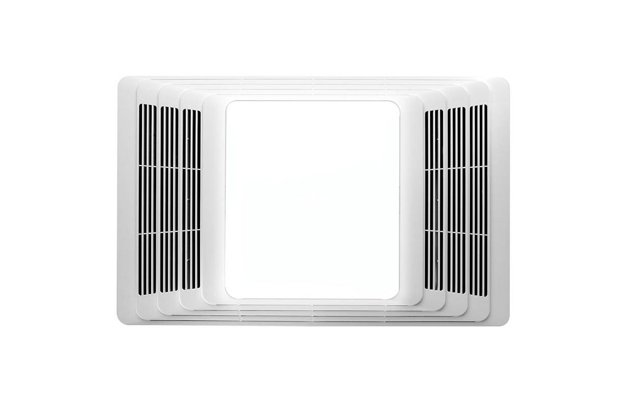 Broan 655 White 70 CFM 4 Sone Ceiling Mounted HVI Certified Bath Fan with Heater and Light - Faucet.com