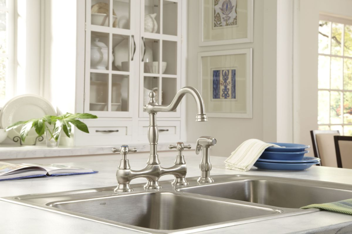 Danze D404557pnv Polished Nickel Kitchen Faucet Includes Metal
