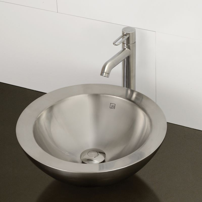 Decolav 1228 B Brushed Stainless Steel Simin 15 1 2 Vessel Bathroom Sink Faucet
