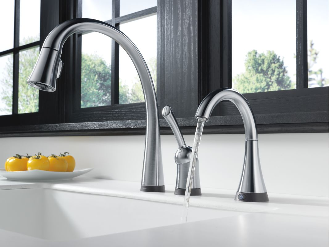 Delta 1977T-AR Arctic Stainless Cold Only Beverage Faucet with On ...