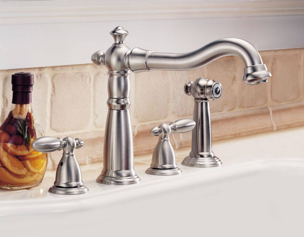 Delta 2256-SS-DST Brilliance Stainless Victorian Kitchen Faucet with ...