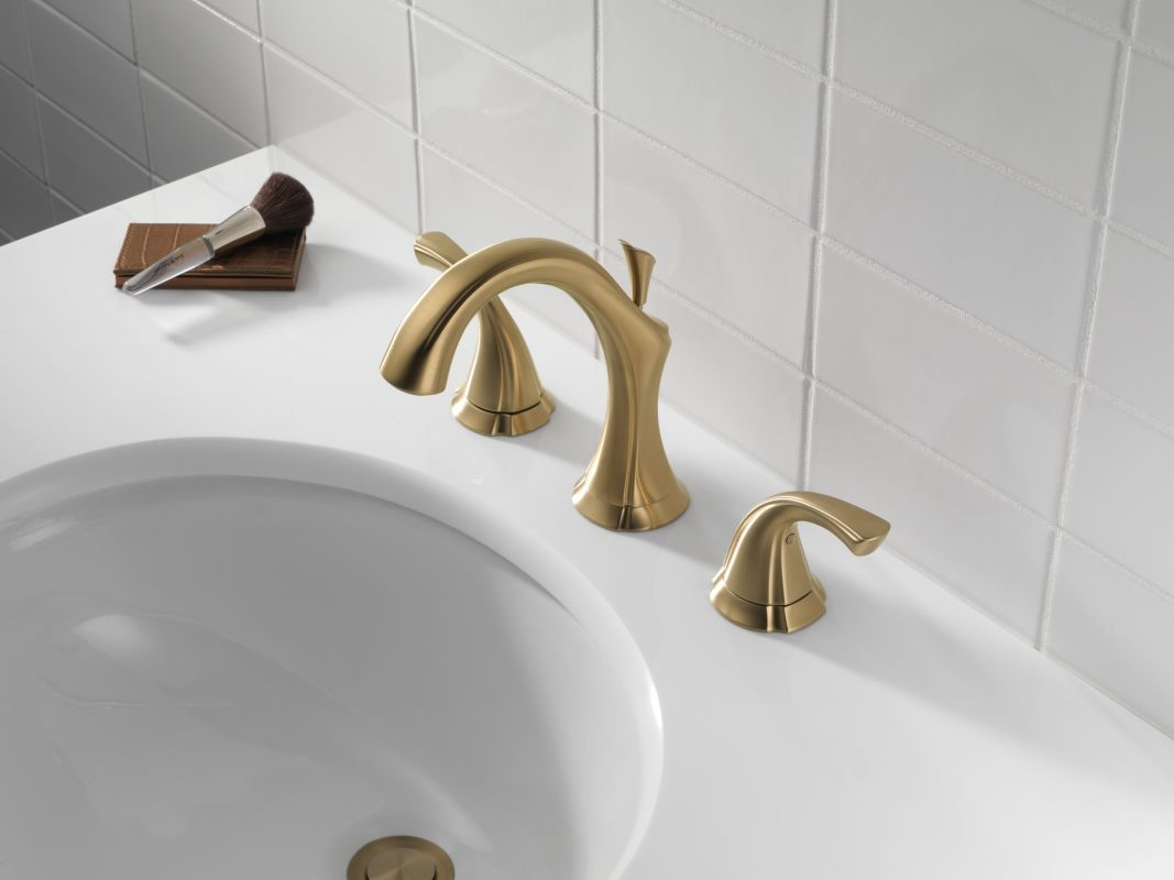 Delta 3592lf Cz Champagne Bronze Addison Widespread Bathroom Faucet With Pop Up Drain Embly Includes Lifetime Warranty