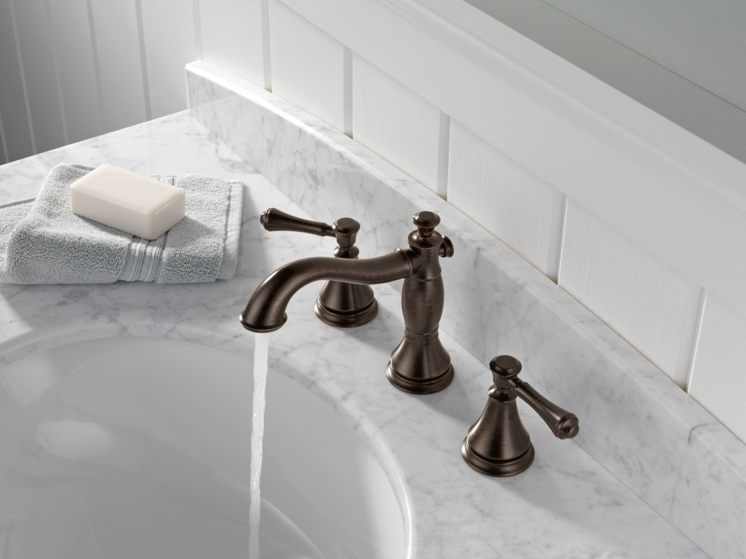 Delta 3597lf Rbmpu Venetian Bronze Cidy Widespread Bathroom Faucet With Pop Up Drain Embly Includes Lifetime Warranty