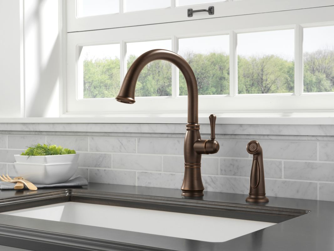 Amazing Delta 4297 AR DST Arctic Stainless Cassidy Kitchen Faucet With Side Spray    Includes Lifetime Warranty   Faucet.com
