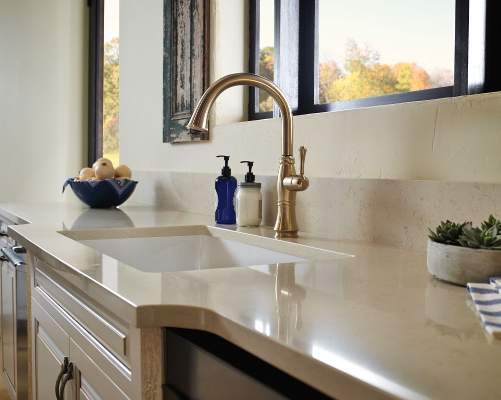 Elegant Delta 4297 AR DST Arctic Stainless Cassidy Kitchen Faucet With Side Spray    Includes Lifetime Warranty   Faucet.com
