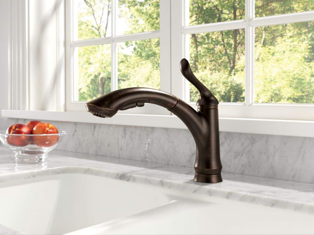 Exceptionnel Delta 4353 DST SD Chrome Linden Pull Out Kitchen Faucet With Temporary Flow  Increase And Soap/Lotion Dispenser   Includes Lifetime Warranty   Faucet.com