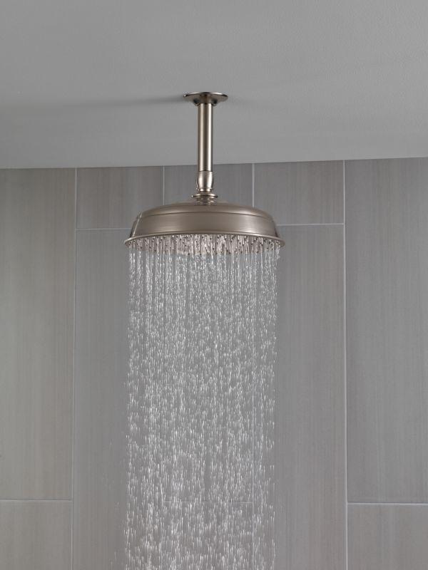 shower setting extendn rain raincan delta details bath single head tif products