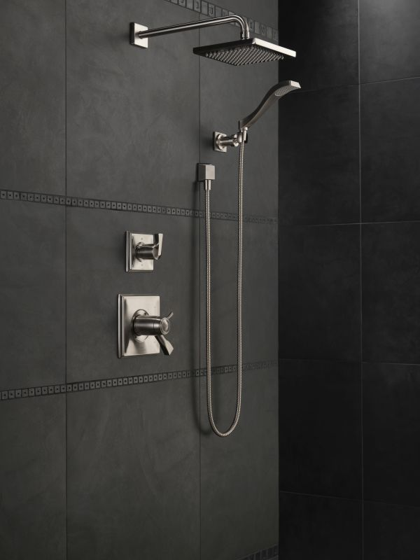 Delta 55051 PN Brilliance Polished Nickel 1.75 GPM Dryden Hand Shower  Package   Includes Hand Shower, Holder, Hose, And Limited Lifetime Warranty    Faucet. ...