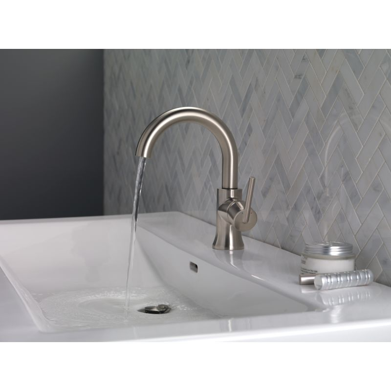 Delta HABLDST Matte Black Trinsic GPM Single Hole Bathroom - Metal bathroom faucets