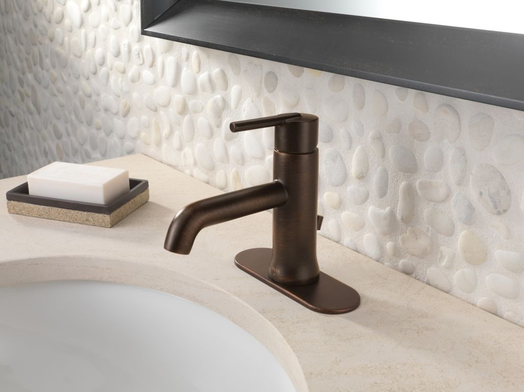 Delta 559LF-RBMPU Venetian Bronze Trinsic 1.2 GPM Single Hole ...
