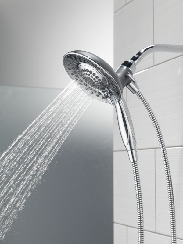 Delta 58045 Chrome In2ition 2 In 1 Shower Head And Hand Shower With 5 Spray  Settings   Includes Shower Hose And Shower Arm Mount   FaucetDirect.com