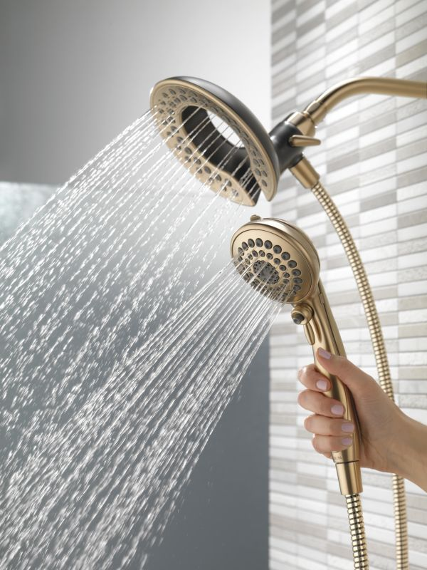 Delta 58045-CZ Champagne Bronze In2ition 2-in-1 Shower Head and Hand ...