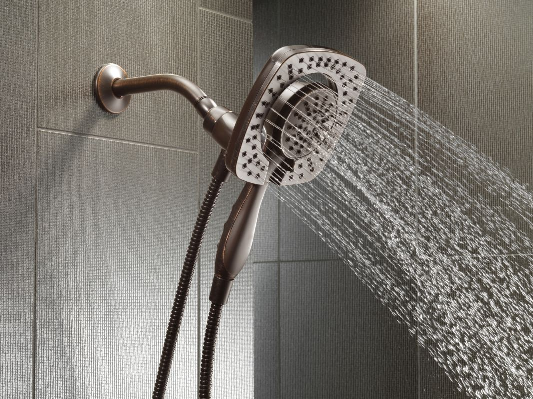Incroyable Delta 58064 SS Brilliance Stainless In2ition Multi Function Shower Head  With In2ition 2 In 1 Hand Shower Technologies   Faucet.com