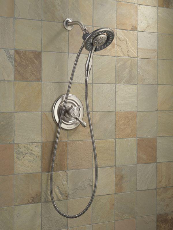 Delta 58065-RB Venetian Bronze 2.0 GPM In2ition 2-in-1 Shower Head ...