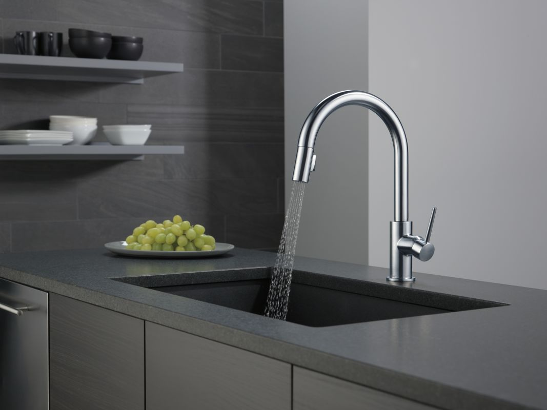 Delta 9159-DST Chrome Trinsic Pull-Down Kitchen Faucet with Magnetic ...