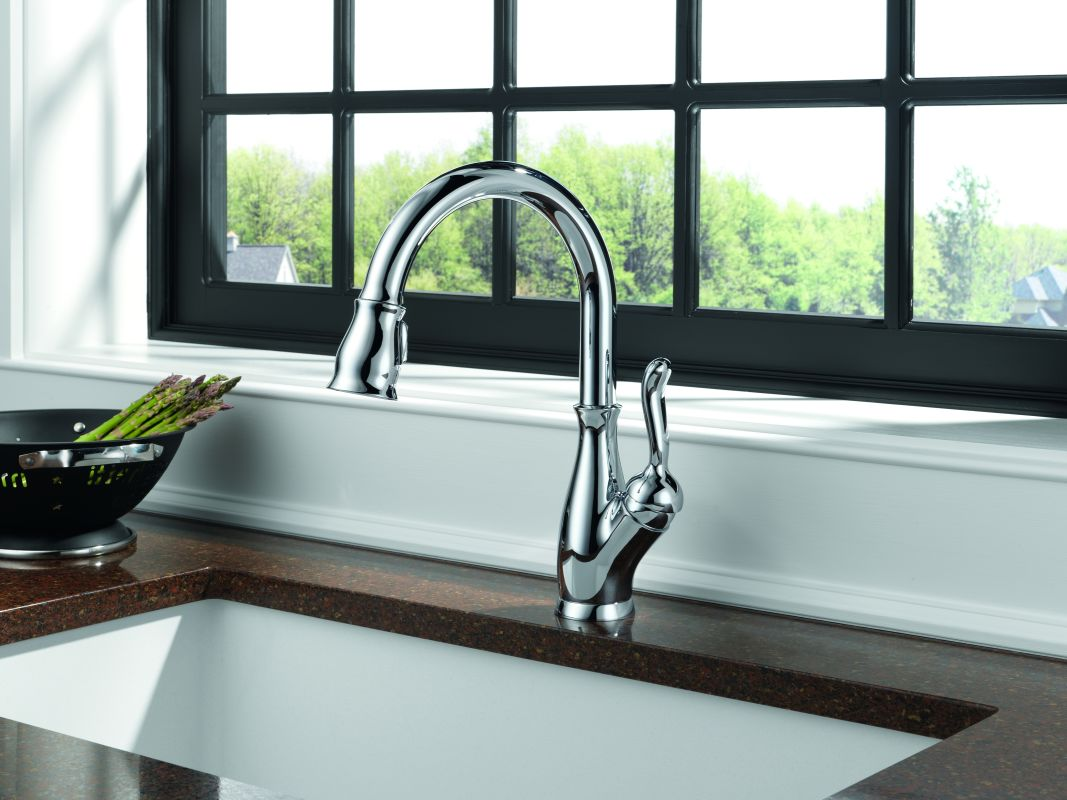 Delta 9178-AR-DST-SD Arctic Stainless Leland Pull-Down Kitchen ...