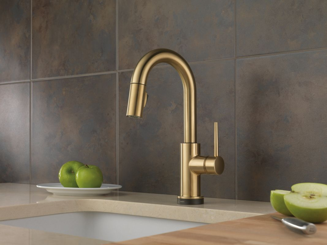 single contemporary bronze brass in delta faucets bar champagne handle cz faucet p