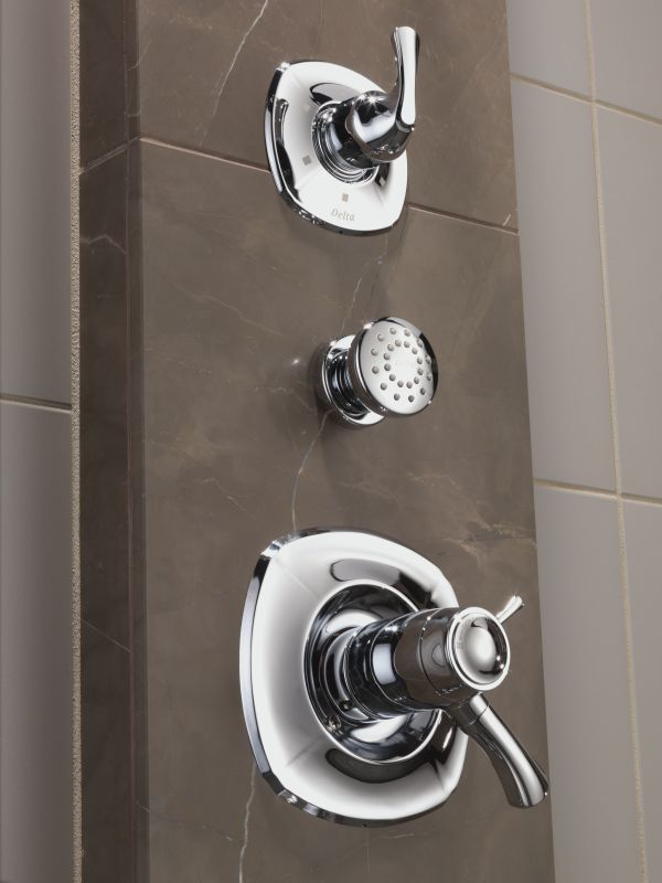 Delta Addison Monitor 17 Series Shower System Ch Chrome With Head Diverter Trim Slide Bar Hand Rough In 2 Sprays