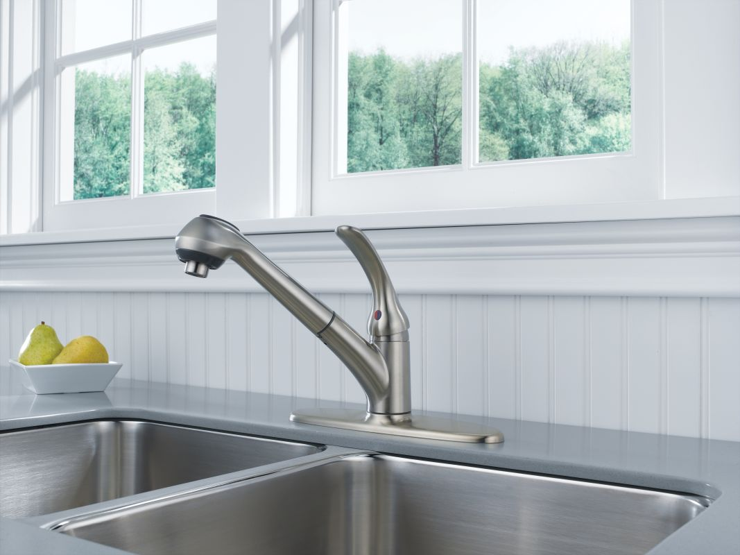 Delta B4310LF-SS Brilliance Stainless Foundations Core-B Pull-Out ...
