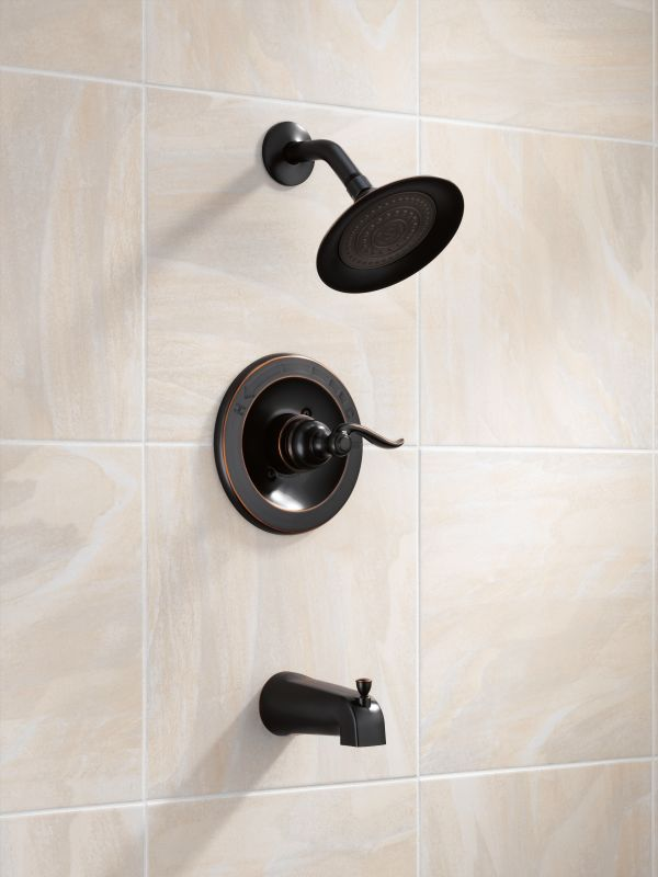 Delta BT14496 OB Oil Rubbed Bronze Windemere Monitor 14 Series Single  Function Pressure Balanced Tub And Shower Trim Package   Less Rough In  Valve   Faucet. ...