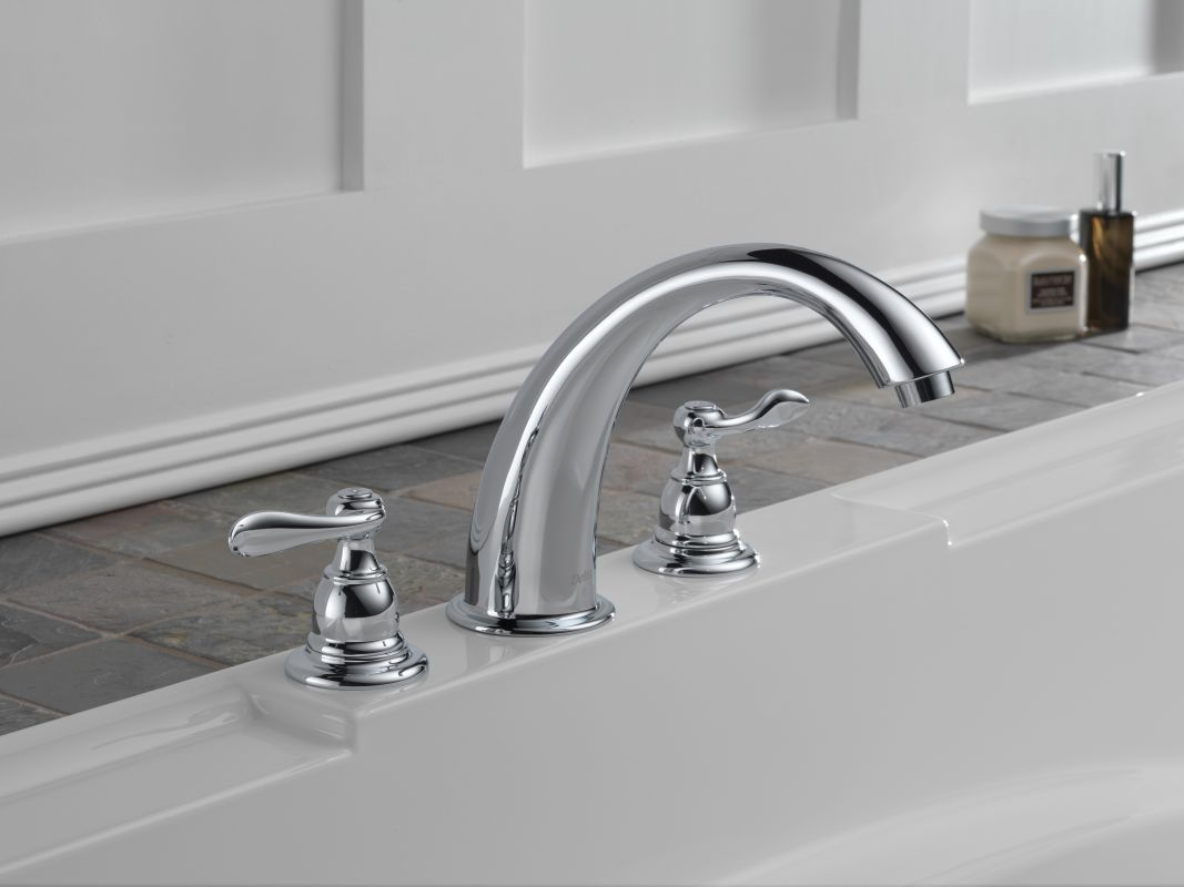 Delta BT2796-SS Brilliance Stainless Windemere Roman Tub Faucet Trim ...