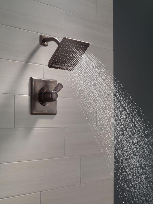 Delta T14251 PN Brilliance Polished Nickel Dryden Shower Trim Package With  Single Function Shower Head And Touch Clean Technology   Faucet.com