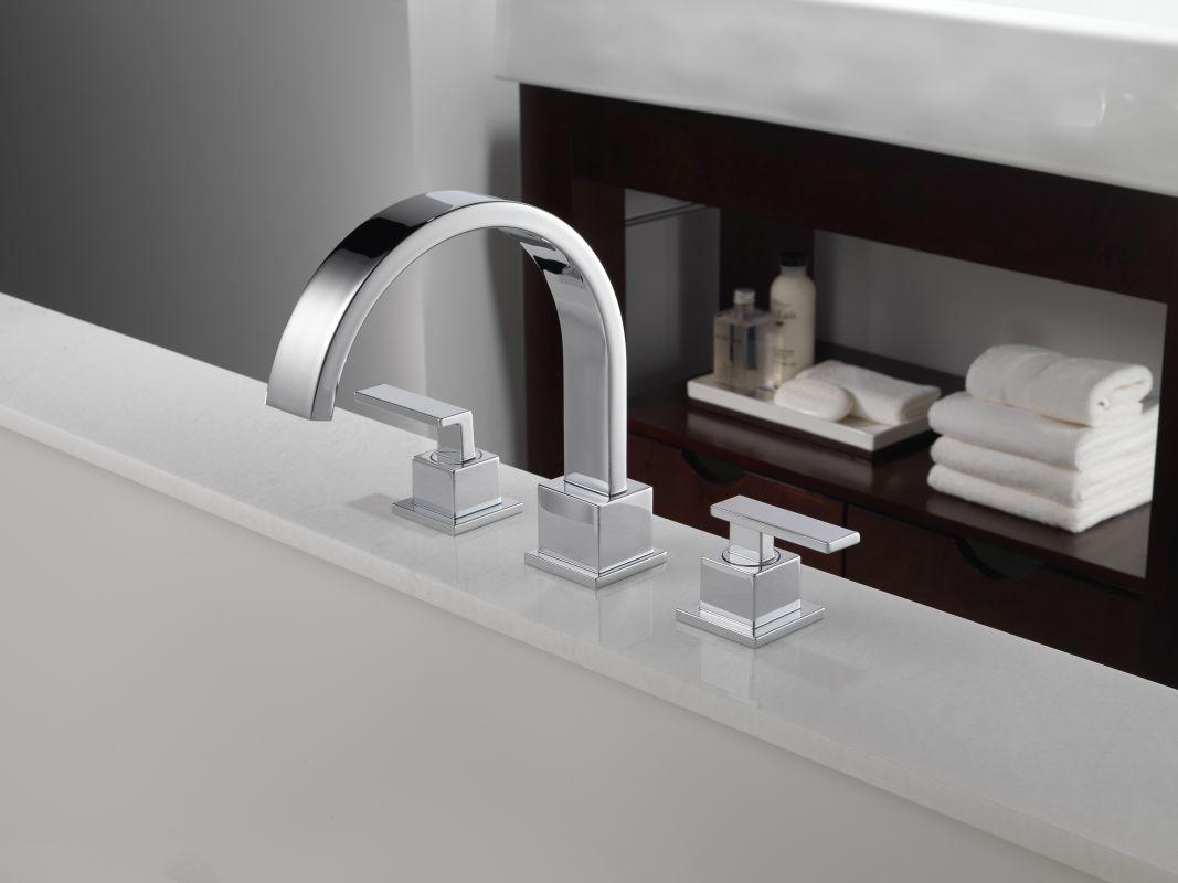Delta T2753 Chrome Vero Roman Tub Faucet Trim - Faucet.com