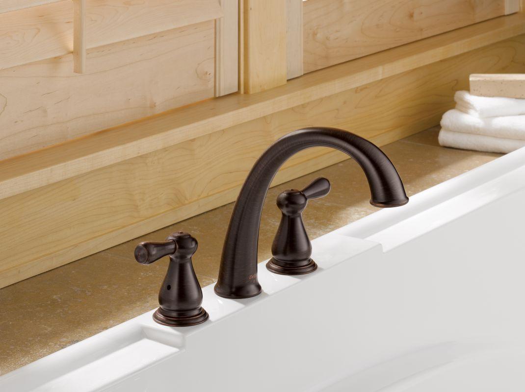 Delta T2775-SS Brilliance Stainless Leland Roman Tub Faucet Trim ...