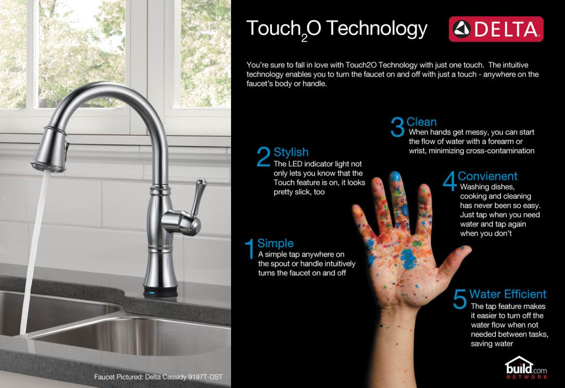 Delta Ashton Touch2o Technology Kitchen Faucet Delta 19922TSSSDDST ...