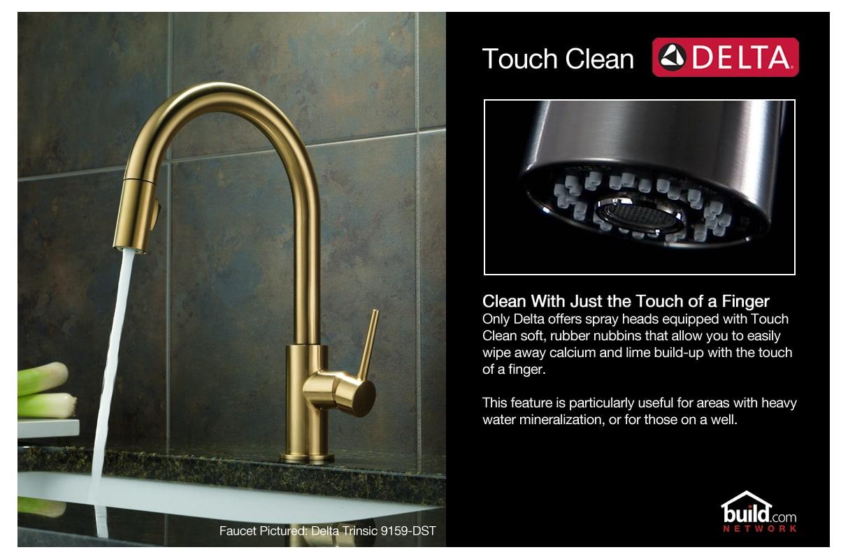 Delta 468-SD-DST Chrome Cicero Pullout Spray Kitchen Faucet with ...