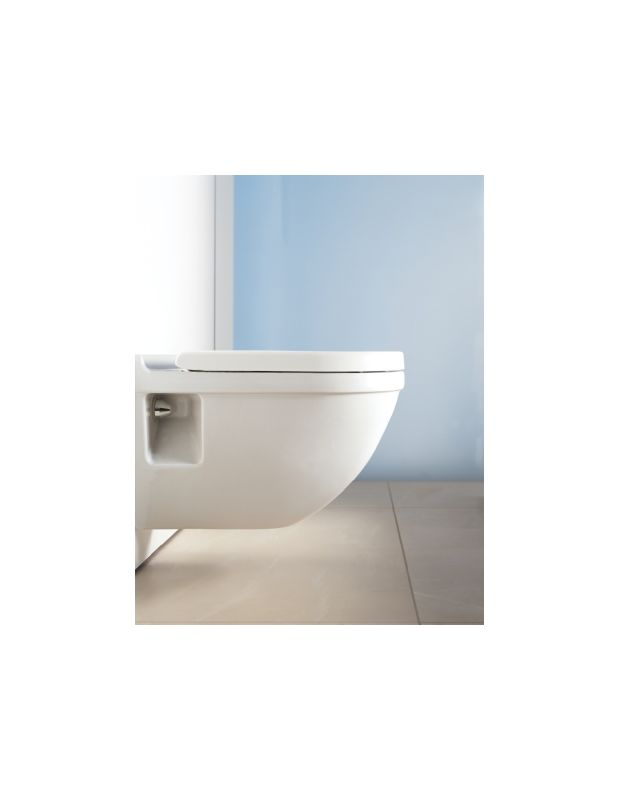 Duravit 0063890000 White Starck 3 Collection Round Toilet Seat with ...