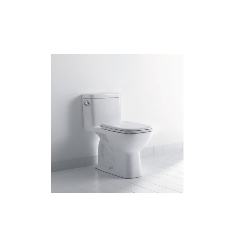 Duravit 0113010001 White D-Code 1.28 GPF One-Piece Rectangular ADA ...