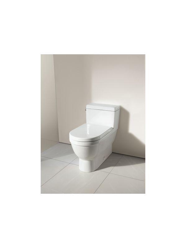 Duravit 2120010001 White Starck 3 1 28 Gpf One Piece Elongated Toilet Less Seat Faucet