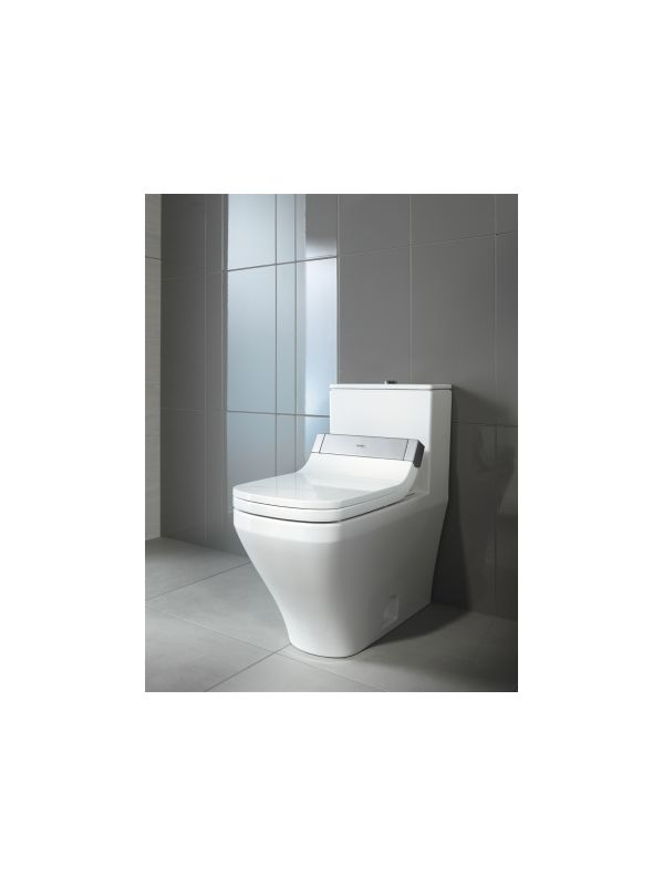 Duravit 2157010005 White Durastyle Dual Flush One Piece Rectangular Toilet Less Seat Faucet