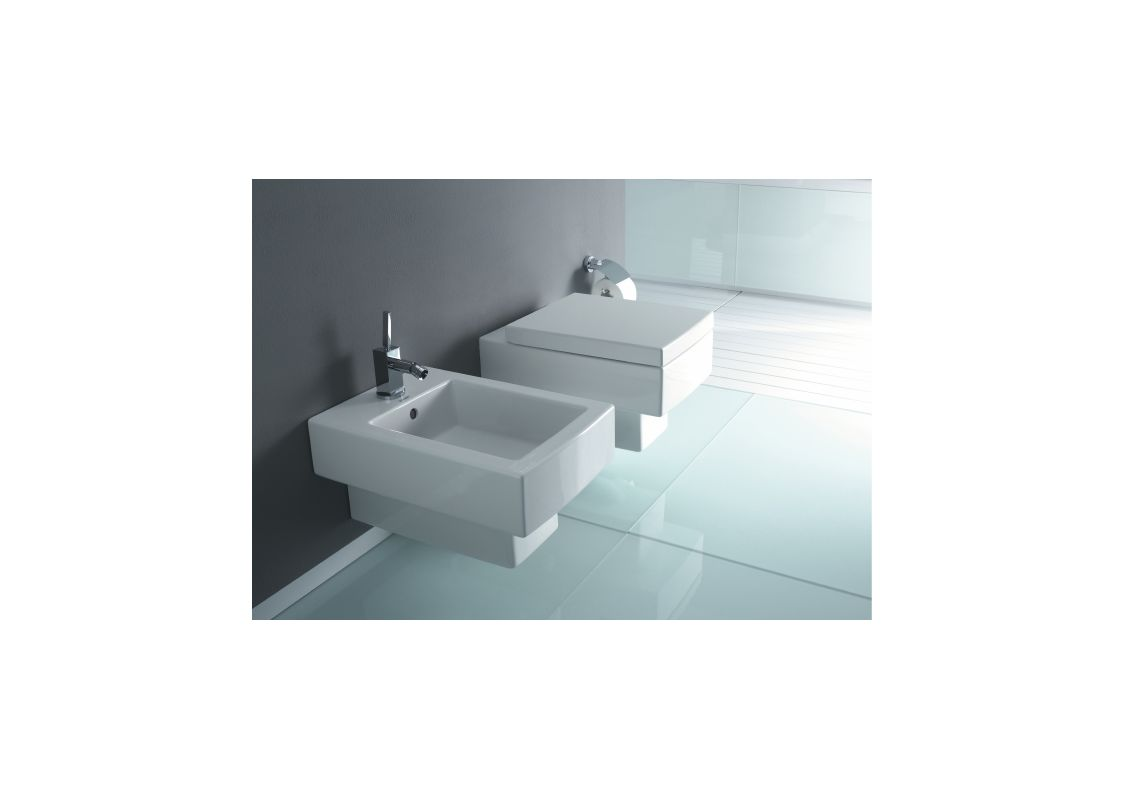 Duravit 22170900921 White Vero 1.6/ 0.8 GPF Dual Flush Wall Mounted ...