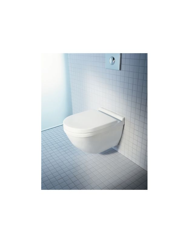 Duravit 2225090092 White One-Piece Round Wall Mounted Toilet - Less ...