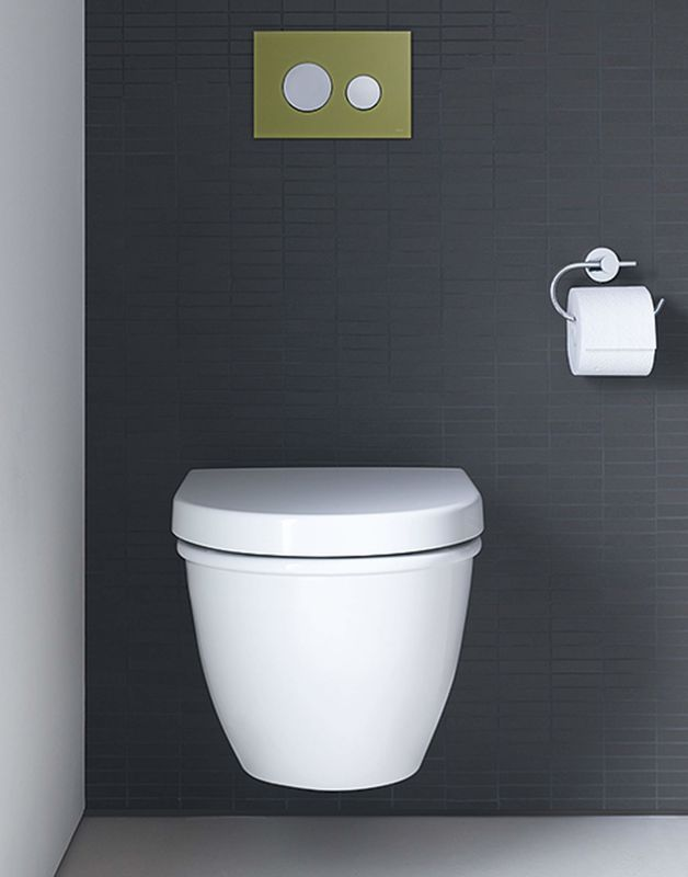 Duravit 2545090092 White Darling New Dual Flush Wall Mounted Elongated Toilet Less Seat And Concealed Tank Faucet