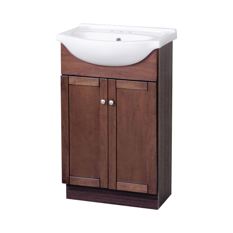 "Foremost COCA2135 Cherry Columbia Bathroom Vanity 21-3/4"" Includes Sink - Faucet.com"