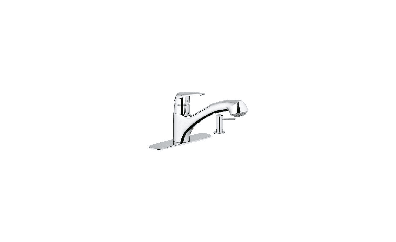 Closeout Bathroom Faucets Grohe 30127000 Starlight Chrome Closeout Pull Out Spray Kitchen
