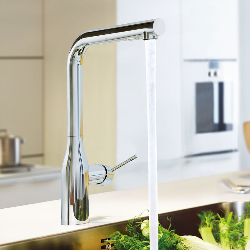 Merveilleux Grohe 30271DC0 SuperSteel Essence Pull Out Kitchen Faucet With 2 Function  Locking Sprayer   Faucet.com