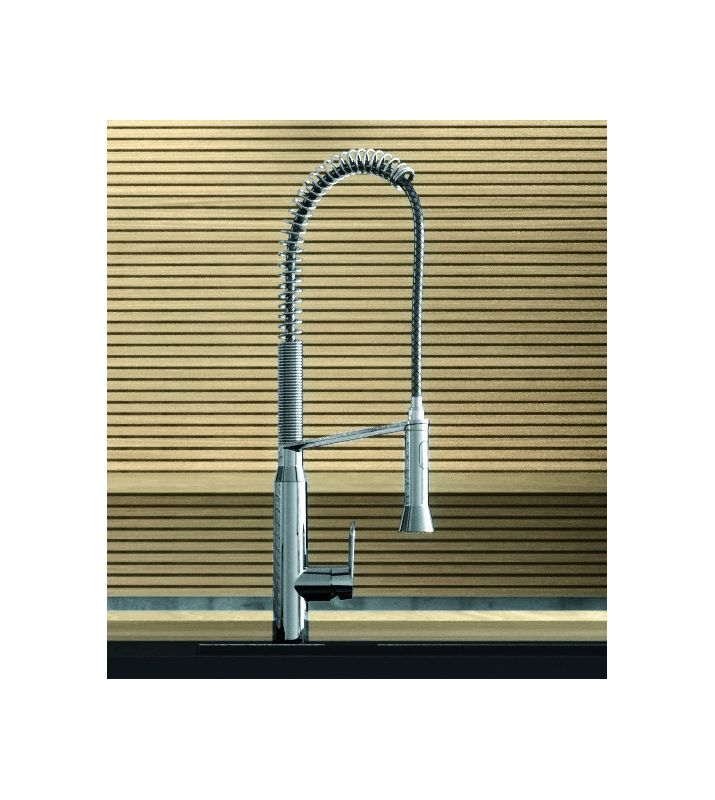 Grohe 32951000 Starlight Chrome K7 Pre Rinse Kitchen Faucet With 2 Function  Toggle Sprayer   Faucet.com