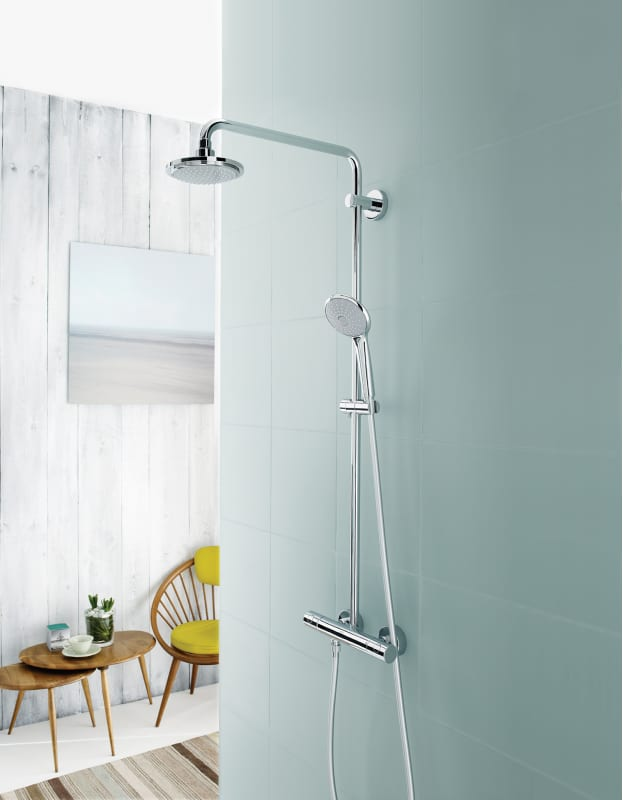 Grohe 122296 Starlight Chrome Euphoria Shower System with Thermostat ...