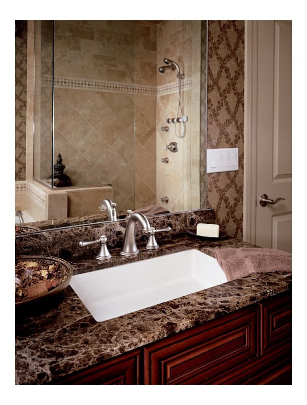 Grohe undefined Velour Chrome Geneva Widespread Bathroom Faucet with ...