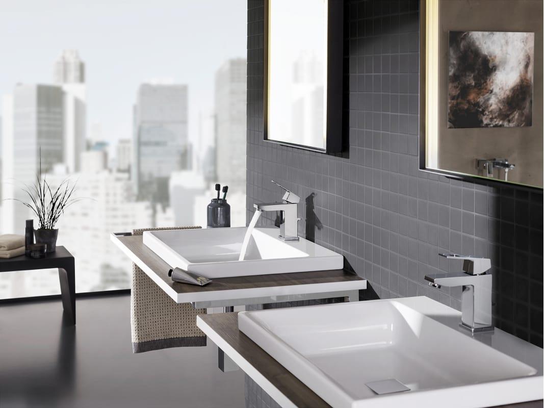 Grohe Chrome Eurocube Single Hole Bathroom Faucet Faucetcom - Grohe bathroom fixtures