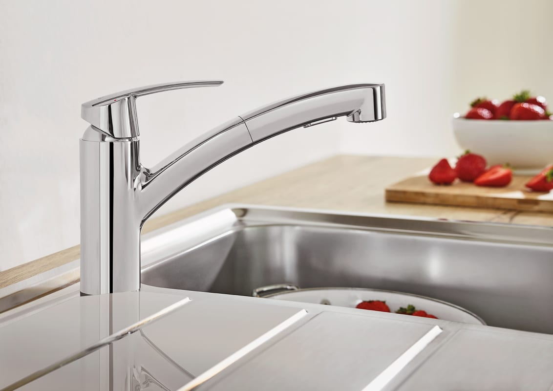 Delicieux Grohe 30306DC0 SuperSteel Eurosmart Pull Out Spray Kitchen Faucet With  SilkMove, And QuickFix Technologies   Faucet.com