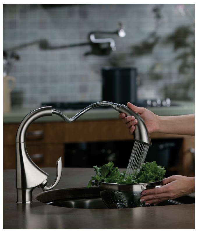 Grohe undefined Stainless K4 Pull-Out Bar Faucet with 2-Function ...