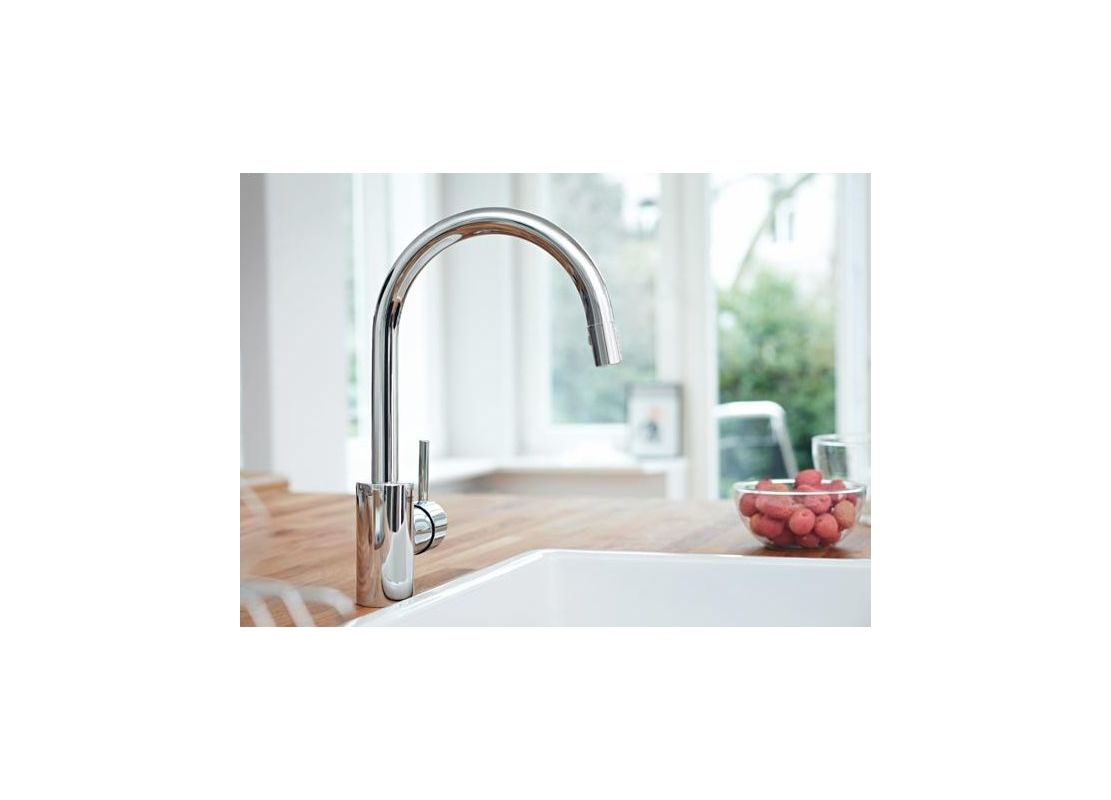 Grohe 32665DC1 SuperSteel Concetto Pull-Down High-Arc Kitchen Faucet ...