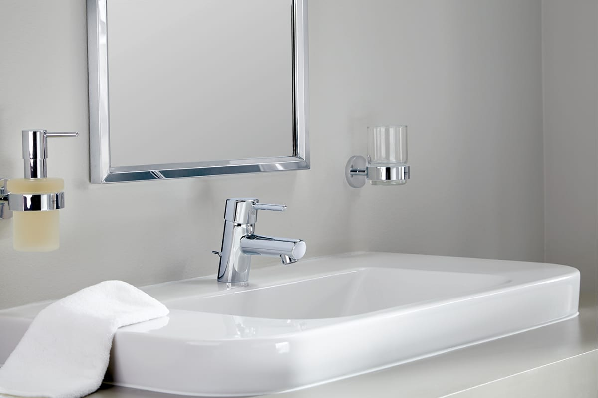 Grohe 34270EN1 Brushed Nickel Concetto Single Handle Single Hole ...